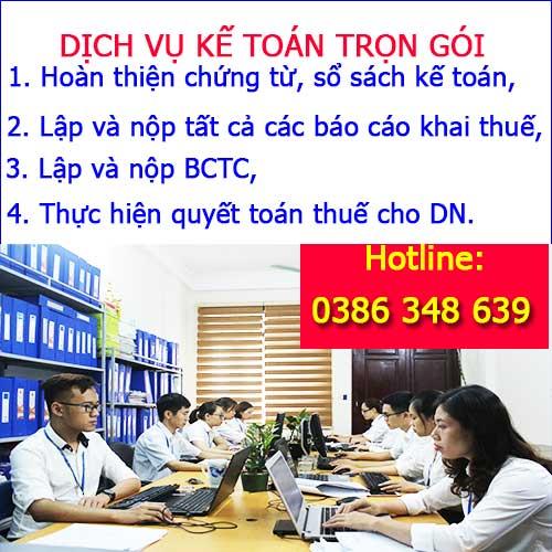 Dịch vụ kế toán trọn gói tại KTHN