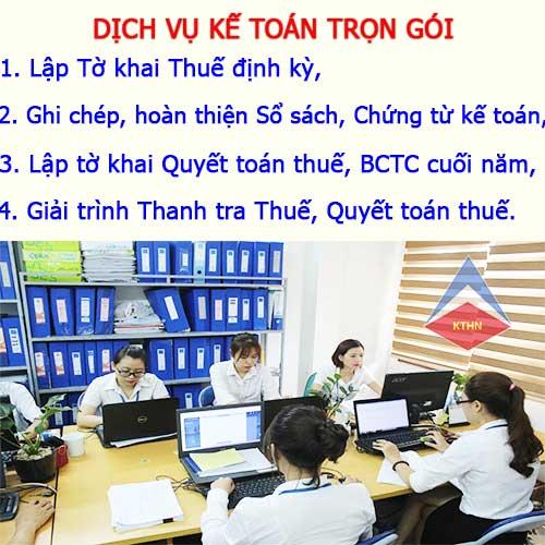 Dịch vụ kế toán thuế trọn gói tại Ba Đình