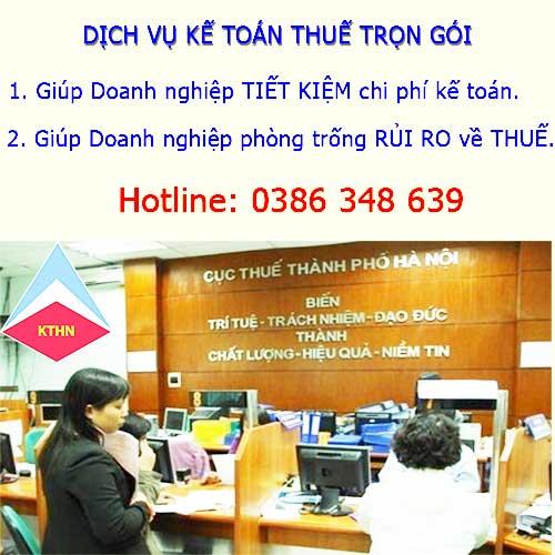 Dịch vụ kế toán trọn gói tại Hà Nội