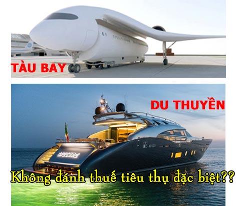 Tàu bay du thuyền không chịu thuế tiêu thụ đặc biệt