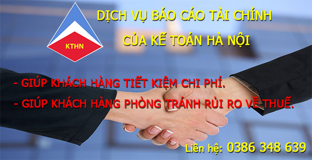 Dịch vụ làm báo cáo tài chính cuối năm ở Long Biên