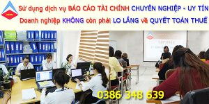 Dịch vụ làm báo cáo tài chính tại Hà Nam