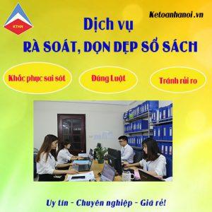 Dịch vụ làm lại sổ sách kế toán tại Long Biên