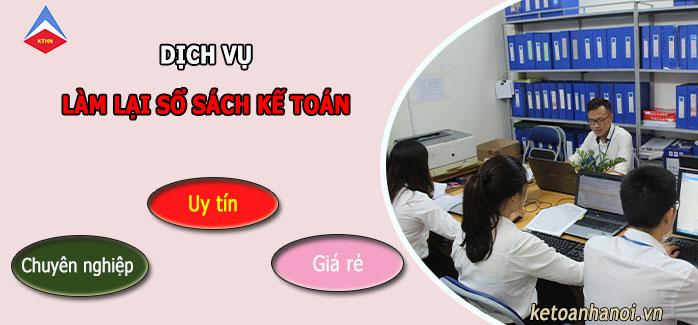 Dịch vụ làm lại sổ sách kế toán tại Thanh Xuân
