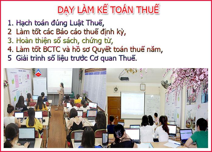 Lớp học kế toán thuế tại Quế Võ CHẤT LƯỢNG TỐT